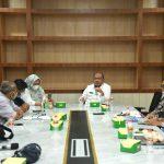 Pemerintah Provinsi (Pemprov) Sumatera Utara (Sumut) kembali menggelar pertemuan dengan PT Pertamina Regional Sumbagut terkait kenaikan harga Bahan Bakar Minyak (BBM), di Kantor Gubernur Sumut Jalan Pangeran Diponegoro Medan, Rabu (7/4/2021).