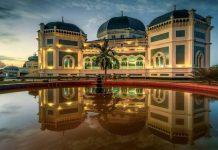 Pembagian bubur pedas yang merupakan tradisi buka puasa di Masjid Raya Al- Mashun Medan, kembali ditiadakan.