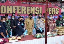 Wali Kota Medan Bobby Nasution turut hadir di acara Deklarasi Tolak Narkoba Menuju Sumut Bersinar (Bersih, Bebas Narkoba), sekaligus pemusnahan barang bukti narkoba di Polrestabes Medan, Rabu (14/4/2021).