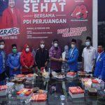 Pengurus KNPI Sumatera Utara (Sumut) kembali melakukan kegiatan di hari ke-9 Ramadan 1442 H. Kali ini Samsir Pohan dan sejumlah pengurus bersilaturahmi ke PDI Perjuangan Sumut, Rabu (21/4/2021).