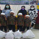 RS Mitra Sejati berbagi kasih dengan 175 orang anak yatim piatu dan duafa di Lantai IV Aula Gedung, Jalan AH Nasution, Sabtu (24/4/2021).