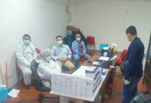 Subdit IV Kriminal Khusus Polda Sumatera Utara (Sumut) melakukan penindakan terhadap gerai pelayanan rapid test di Bandara Kualanamu, Deliserdang.
