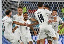 Timnas Italia memetik poin penuh di laga pembuka Piala Eropa 2020 di Stadion Olimpico, Roma, Sabtu (12/6/2021).