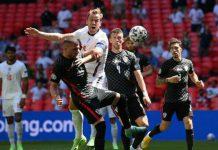 Timnas Inggris berhasil melampiaskan dendam semi-final Piala Dunia 2018 kepada Kroasia. Anak asuh Southgate menang tipis 1-0 melalui sepakan Raheem Sterling dimenit 57, Stadion Wembley, Sabtu (13/6/2021).