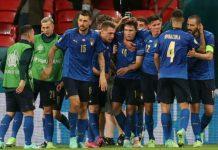 Timnas Italia akhirnya menuntaskan dendam Euro 2012 terhadap Spanyol. Tim besutan Roberto Mancini menang lewat drama adu pinalti 5-3 pertandingan semifinal pertama Euro 2020 di Stadion Wembley, Rabu dini hari (7/7/2021)