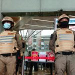 Pemerintah Kota (Pemko) bersama unsur Forkompinda Kota Medan melakukan penyegelan terhadap pusat perbelanjaan Centre Point di Jalan Jawa, Kecamatan Medan timur, Jumat (9/7/2021).