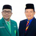 Ketua PD Al Washliyah Kota Medan Abdul Hafiz Harahap dan Bendahara PD Al Washliyah Kota Medan Fachroel Rozi