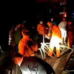 Personil Rescuer Pos Pencarian dan Pertolongan Parapat (Danau Toba) berhasil mengevakuasi Renol Siahaan (24) usai mengalami kecelakaan tunggal hingga terjatuh ke jurang tepatnya di dekat Jembatan Sera- Sera Kecamatan Girsang, Kamis (23/7/2021).
