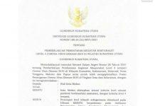 Gubernur Sumatera Utara (Sumut) Edy Rahmayadi kembali memperpanjang Pemberlakukan Pembatasan Kegiatan Masyarakat (PPKM) mulai 3- 9 Agustus 2021.