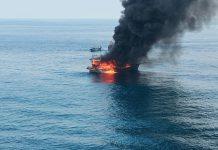 Sebuah Kapal Motor penangkap ikan bernama KM United terbakar di Perairan Pulau Berhala Kabupaten Serdang Bedagai Selasa (3/8/2021) sekitar pukul 10.00 WIB. Dalam peristiwa ini, 2 anak buah kapal (ABK) hilang.