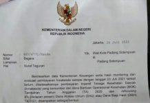 Menteri Dalam Negeri (Mendagri) Tito Karnavian menegur Walikota Padangsidempuan, Irsan Efendi Nasution yang tak kunjung mencairkan insentif tenaga kesehatan (nakes) di masa pandemi Covid-19.