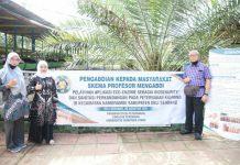 Pengabdian Masyarakat Skema Profesor Mengabdi Universitas Sumatera Utara (USU) melakukan pelatihan Aplikasi Eco-enzim, Terobosan Biosecurity dan Sanitasi pada Peternakan Kambing.