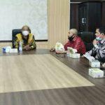 Pemkab Langkat menerima audiensi para penggiat anti narkotika di Kantor Bupati Langkat, Kamis (9/9/2021).