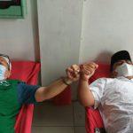 PD Al Washliyah Kota Medan bersama BKM Al Ishlah melakukan kerjasama dalam kegiatan donor darah yang di Masjid Al Ishlah Jalan Kapten Muslim Medan, Minggu (12/9/2021)