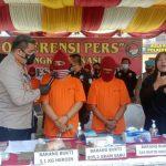 Personel Satreskoba Polrestabes Medan berhasil mengungkap dan menggagalkan peredaran 3,1 kilogram heroin dari dua orang tersangka.