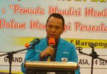 Ketua KNPI Sumut, Samsir Pohan membuka Musda Ke-XV DPD KNPI Tanjung Balai di Grand Singgie Hotel, Selasa (14/9/2021).