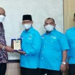 Wakil Bupati Langkat, Syah Affandin menerima Pengurus DPD Partai Gelora Kabupaten Langkat di Kantor Bupati Langkat, Selasa (14/9/2021).
