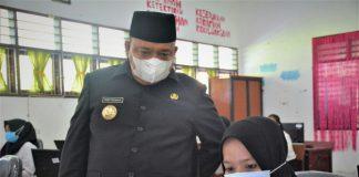 Bupati Langkat, Terbit Rencana PA meninjau seleksi PPPK di SMA Negeri 1 Stabat