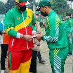 Walikota Medan, Muhammad Bobby Afif Nasution melepas atlet dan pelatih asal Kota Medan yang bertanding di ajang Pekan Olahraga Nasional (PON) ke-20, Papua, Sabtu (18/9/2021).