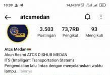 Akun instagram atcsmedan yang dikelola Dinas Perhubungan Medan diduga diendorse salah satu konsultan kesehatan, tepatnya penurun badan.