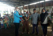 DPD KNPI Sumut menyalurkan bantuan sembako Kabareskrim Polri pada warga yang membutuhkan di Deliserdang, Sumatera Utara.