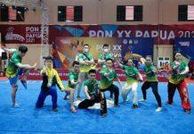 Tim Wushu di PON XX Papua menjadi penyumbang medali terbanyak untuk Provinsi Sumatera Utara
