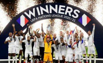 Perancis keluar sebagai UEFA Nations League 2022-2021 setelah mengalahkan Spanyol 2-1 pada pertandingan final lewat comeback Benzema dan Mbappe.