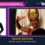 Mahasiswa Prodi Pendidikan Tari FBS Unimed Riswin Saputra memenangkan lomba Indonesia Menari Virtual Kategori A, pada Minggu (10/10/2021).
