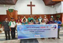 GKPI dan UEM menggelar pelatihan Home Gardening, meningkatkan ketahanan pangan di tengah pandemi Covid 19.(ist/kaldera)